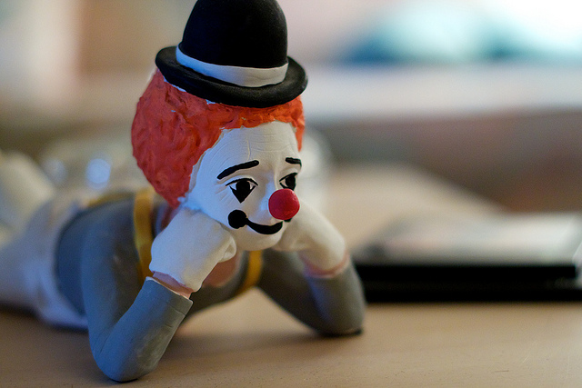 Don't put a clown, no matter how thoughtful, in charge of your SEO. Photo: Alan Levine/Flickr.