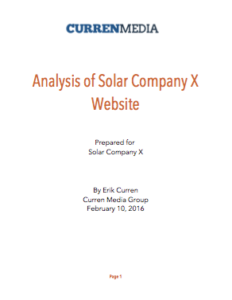 sample solar website report
