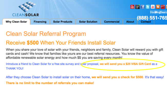 CleanSolar referral program