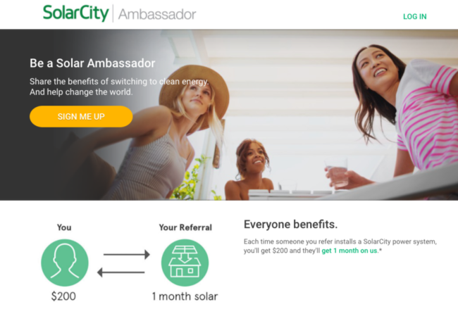 SolarCity Ambassador program